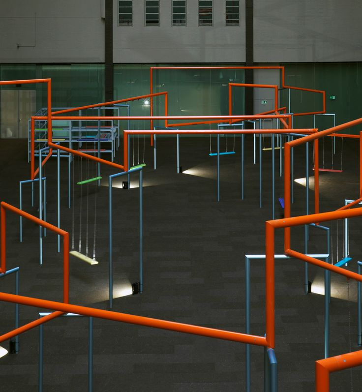 Superflex swings into action, transforming the Turbine Hall into an artistic playground