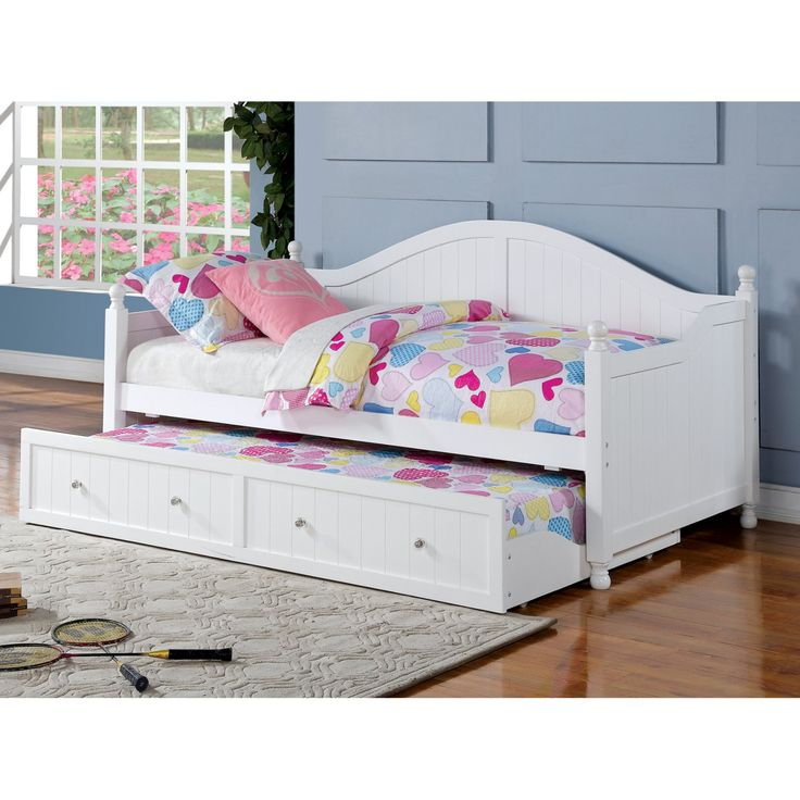 Coaster Furniture Daybeds by Coaster Wooden Daybed with Trundle - White - 300053