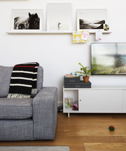 Use a Ledge as a Mini Mantel | Along with displaying art, they can function as an annex pantry, a garden, even a jungle gym. Try these creative ways to cure your home's clutter hang-ups.