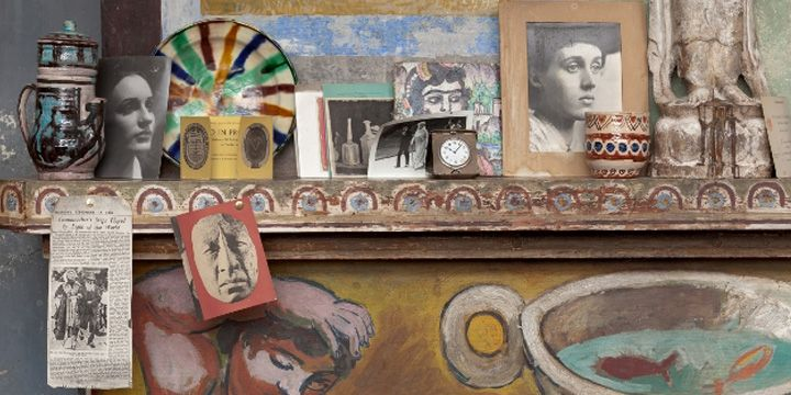 Charleston was the home and country meeting place of the Bloomsbury group. The interior was painted by the artists Duncan Grant and Vanessa ...