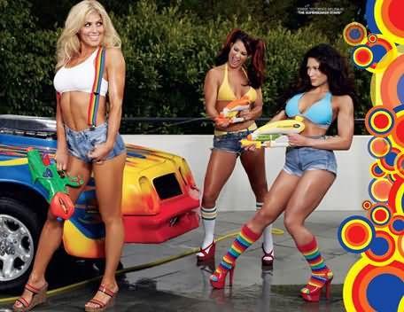 WWE Divas Torrie Wilson, Melina and Victoria Having Fun