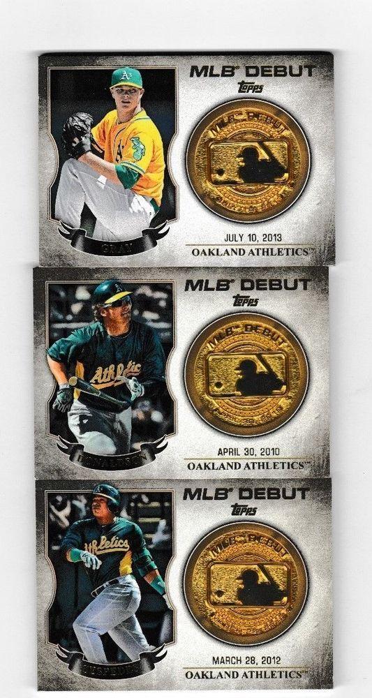 2016 Topps MLB Debute Medallion lot of (3) Oakland Athletics Gray/Donaldson/Cesp #Athletics #OaklandAthletics