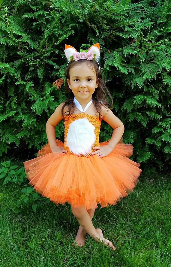 Fox Costume, Fox Tutu Dress, Fox Tutu, woodland creatures, Tutu Dress, Unicorn Tutu Costume, Girls halloween costume, toddler costume
