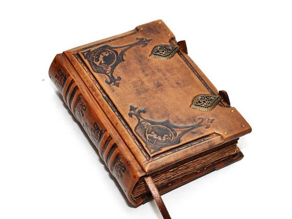 Small leather journal Order of the Dragon Medieval style