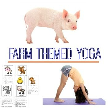 farm themed yoga and moovement cards  farm lessons farm