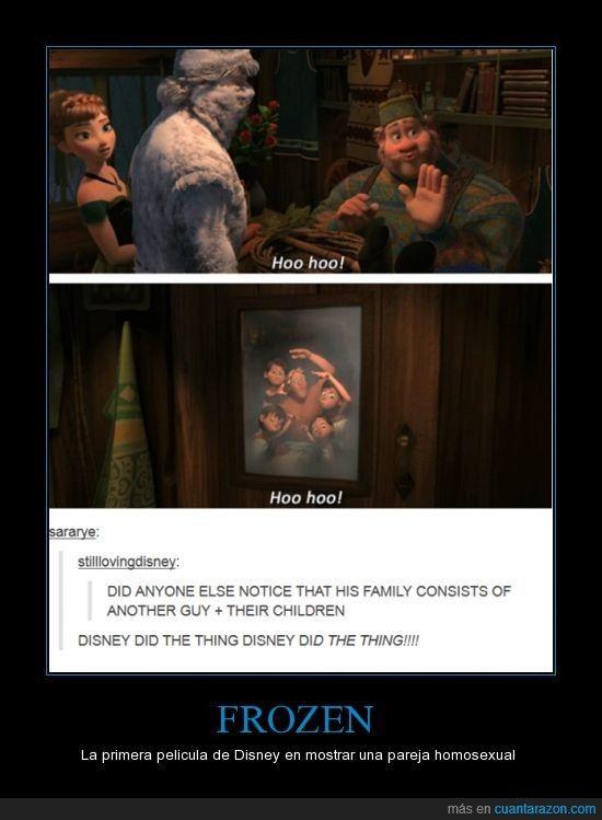 En Frozen sale la primera pareja homosexual de Disney - La primera pelicula de Disney en mostrar una pareja homosexual