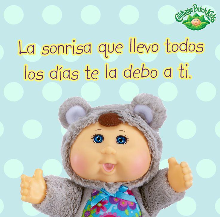 La sonrisa que llevo todos los días te la debo a ti. #cabbagepatch #cabbagepatchkids #sketchers #muñeca #niñas #abrazo #palaciodehierro #liverpool #comercialmexicana #walmart #soriana #sears #chedraui #coppel #juguetron #HEB #cuties