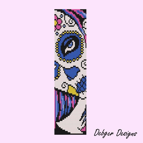 Calavere 2 - Loom Bracelet Cuff Pattern really cool im going to try to make it!!!!!