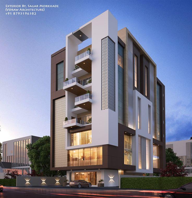 Modern Residential Exterior By Ar Sagar Morkhade: 2182 Best Elevation Images On Pinterest