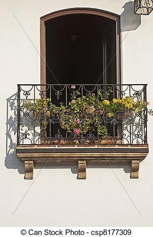 Wrought iron balcony Stock Photo Images. 574 Wrought iron balcony ...