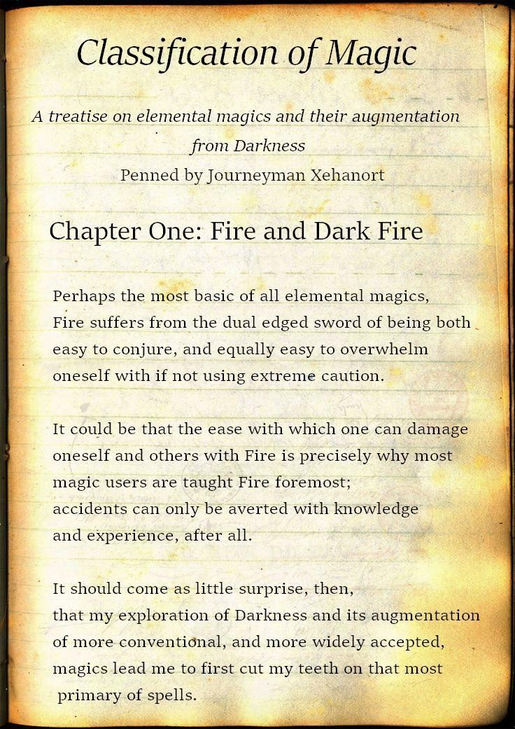 Classification of Magic (Xehanort, Jm.) A Treatise on Elemental Magics and Their…
