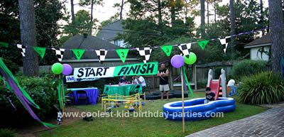 monster jam birthday party obstacle course