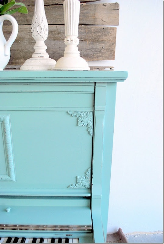 color is Calico by Sherwin WilliamsDiy Ideas, Calico Sherwin Williams, Diy Furniture, Painting Furniture, Turquois Painting Piano, Furniture Redo, Blue Piano, Painting Colors, Calico Blue