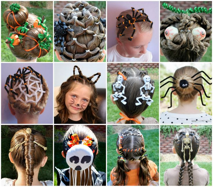 You'll have loads of fun trying out these fabulous Halloween Hairdo's.  Be sure to check out the Spider version too!