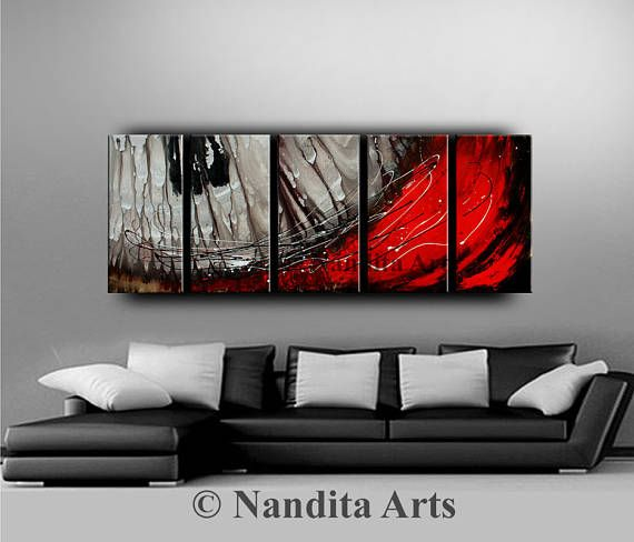 Large Abstract Modern Painting Original Art Contemporary Art Daily Painting Red And Grey Art Canvas Ar Modern Abstract Painting Grey Canvas Art Modern Painting