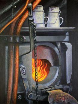 Steam Train Fire Box by simon-knott-fine-artist at zippi.co.uk