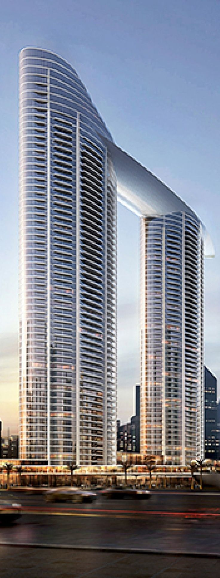 The Address Residence Sky View Tower, Dubai, UAE designed by Skidmore, Owings & Merrill (SOM) Architects :: 50 floors, height 230m