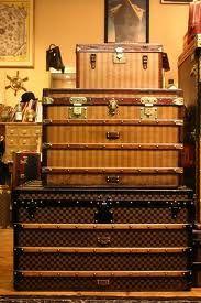 vintage Vuitton trunks