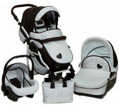 Детская коляска DPG ROMANCE DOTS - http://babybaby.kz/products/kolyaski-progulochny-e/kolyaski_3_v_1/kolyaska-3-v-1-dpg-romance-dots/ Модная и очень удобная коляска для новорожденных от польского бренда.