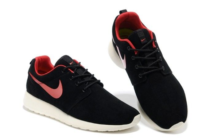 Running Shoes Nike Hot Sale Roshe Wool Skin Online Black&Red