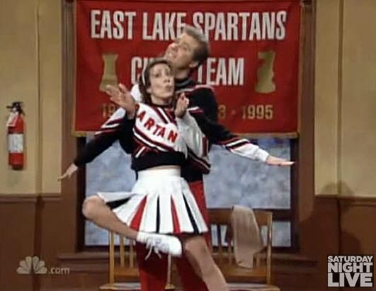 Spartan Spirit Cheerleaders Will Ferrell and Cheri Oteri on SNL