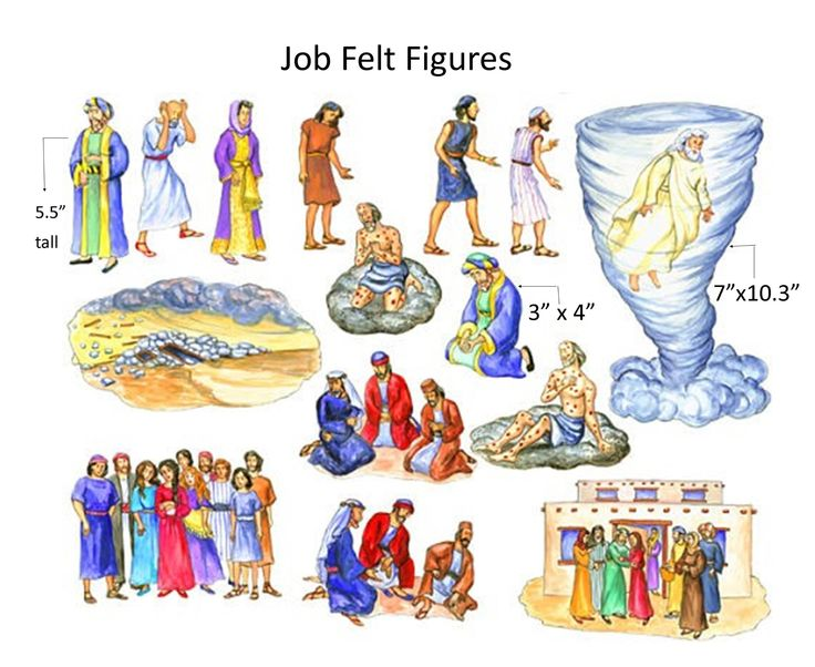 The Story of Job Felt Figures for Flannel