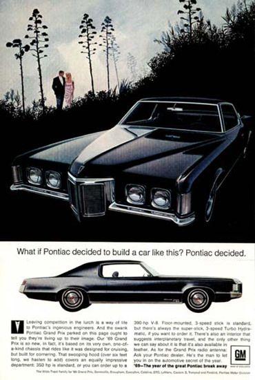 Pontiac Grandprix 1969 Pontiac Decided Black - Mad Men Art: The 1891-1970 Vintage Advertisement Art Collection