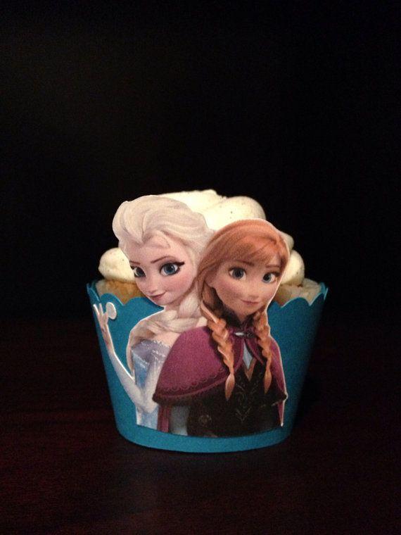 Frozen Cupcake Wrappers - Set of 12- Disney Frozen, Frozen Party, Disney Princess, Anna, Elsa, Frozen party on Etsy, $10.00
