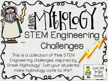 Can your students engineer some Greek Mythology?  Try these five STEM Engineering Challenges to find out!  The Five Challenges Included in this Set:  - Column Construction Challenge - Cardboard Marble Maze Challenge - Broken Pottery Challenge - Mythical Monster Model Challenge - Trojan Horse Model Challenge  These challenges are a great way to incorporate STEM learning with the topic of Greek Mythology!  Students must design and construct a variety of items inspired by Greek Mythology! $