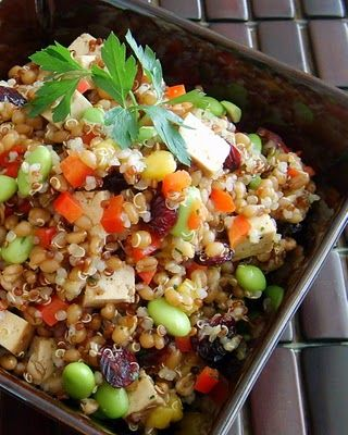 Quinoa & Wheat Berry Salad - I tried this one and the flavors work very well together.