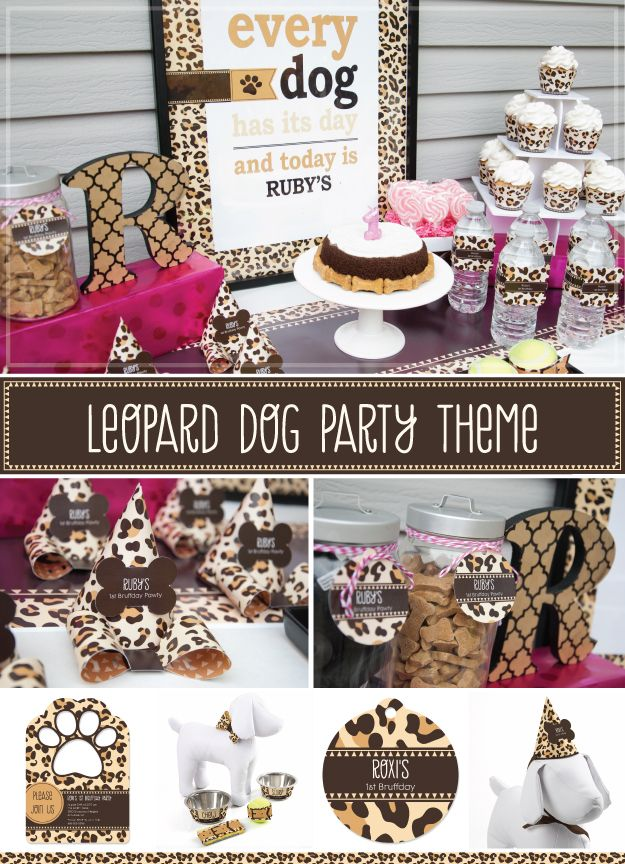 34 best images about animal print dog party themes on for Animal print party decoration ideas