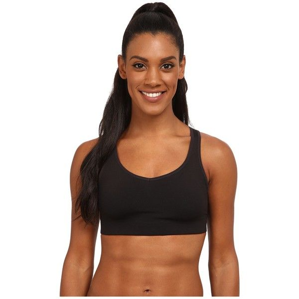 Patagonia Compression Bra Women's Bra ($49) ❤ liked on Polyvore featuring activewear, sports bras, polka dot sports bra, black sports bra, patagonia sportswear, racerback sports bra and v neck sports bra
