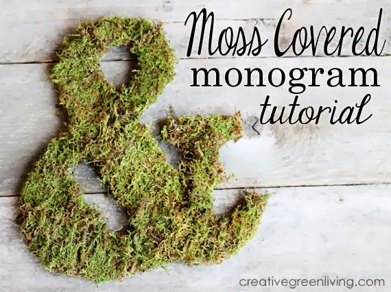 How to make a moss covered monogram - perfect for a woodland themed nursery or rustic wedding decor.