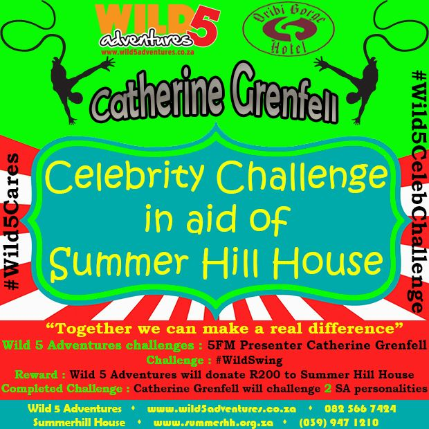 @JemAtkins challenged @5fm​ Presenter @cathgrenfell to the #Wild5CelebChallenge​ http://buff.ly/1HIZUCz