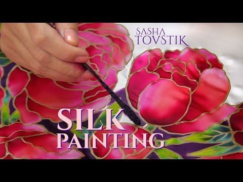 Basic  Silk Painting Techniques - Fine Art Tips - YouTube