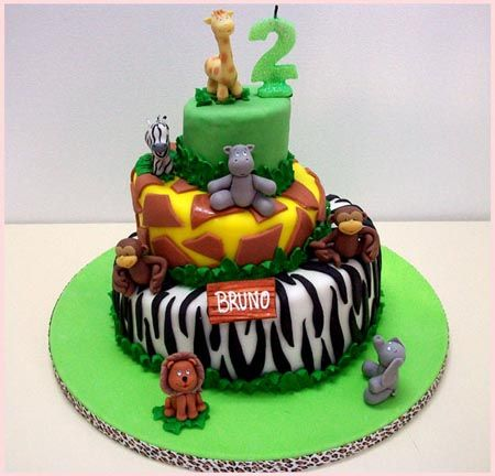 Tartas infantiles de la selva - Imagui