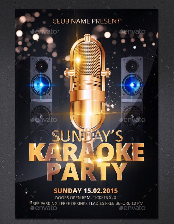 Karaoke Party Flyer This Flyer Is Great For A Karaoke Party Flyer