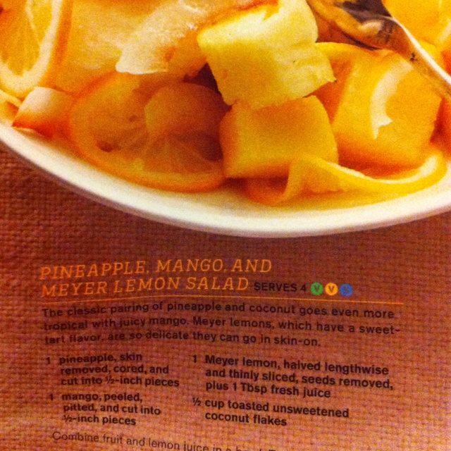 pineapple mango and meyer lemon salad more lemon salad pineapple mango ...