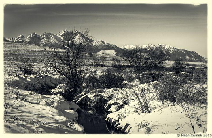 Winter landscape in bw by Milan Cernak on 500px