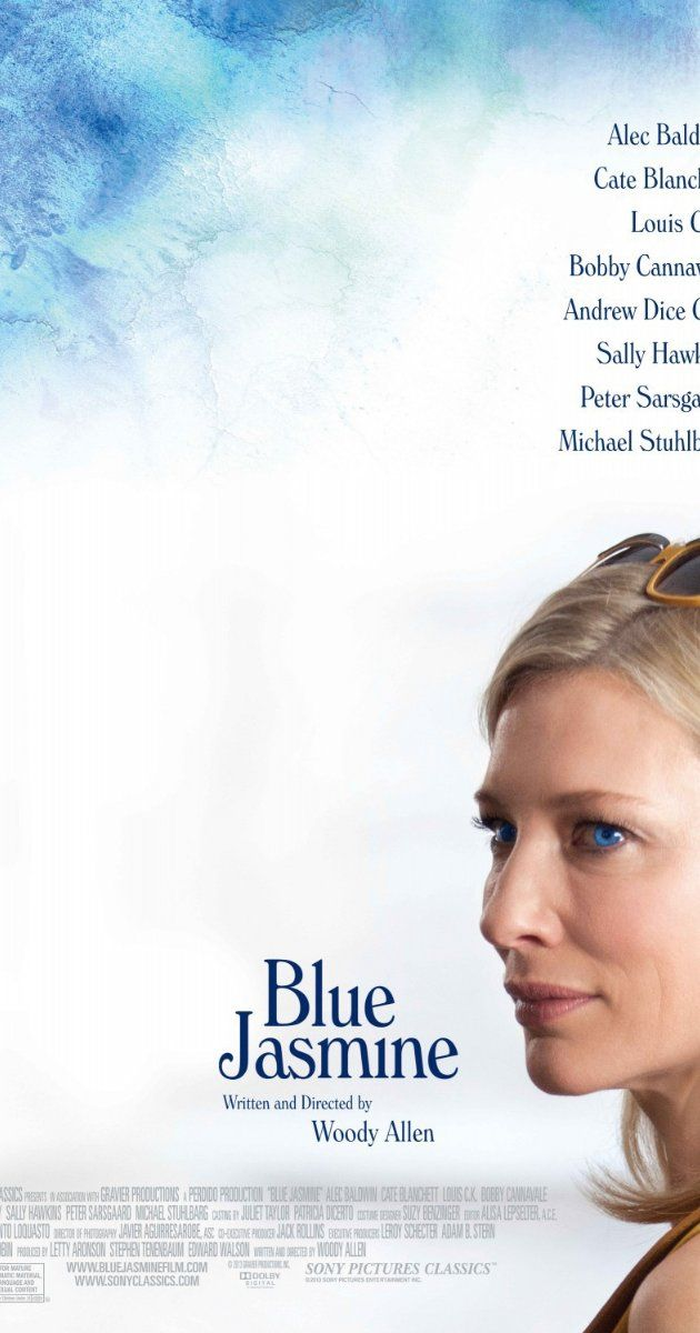 """""""Blue Jasmine"""" (2013). A New York socialite, deeply troubled and in denial, arrives in San Francisco to impose upon her sister. This film, starring Cate Blanchett and directed by Woody Allen, is very well done. Blanchett is terrific in the lead role."""