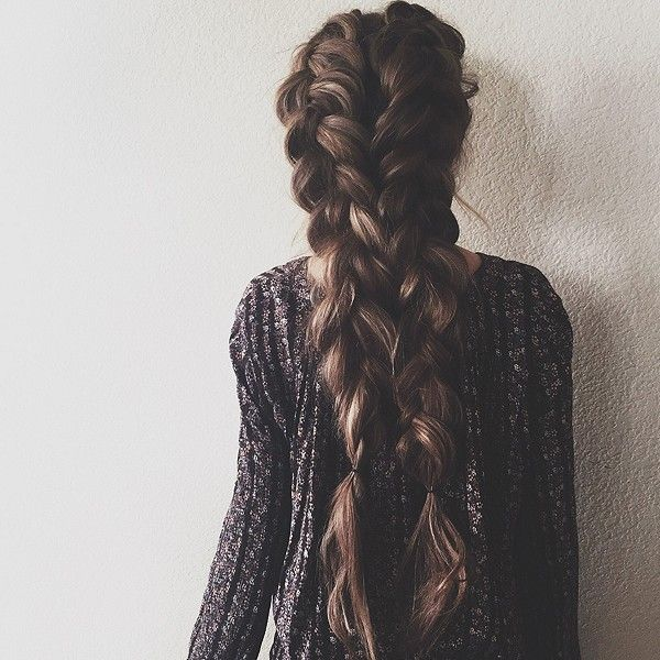 It would be fabulous to have hair this thick! Legit, ALL of my hair is basically one strand of her braid