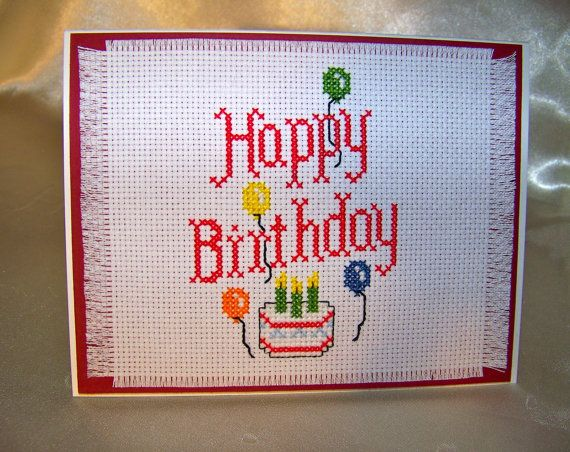 Finished Custom Cross Stitch  Happy by CrystalinasCreations, $30.00