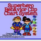FREE! Here is an 8 page behavior clip chart system based on the superheroes theme. Just print onto card stock, laminate and mount.  © 2013 Nicole Hernand...