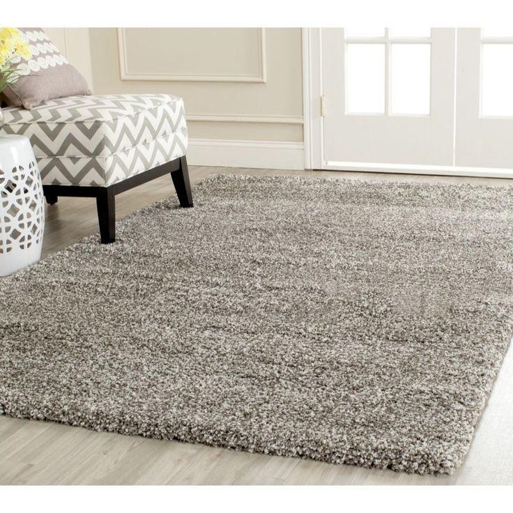 safavieh milan shag grey rug 7u0027 square by safavieh