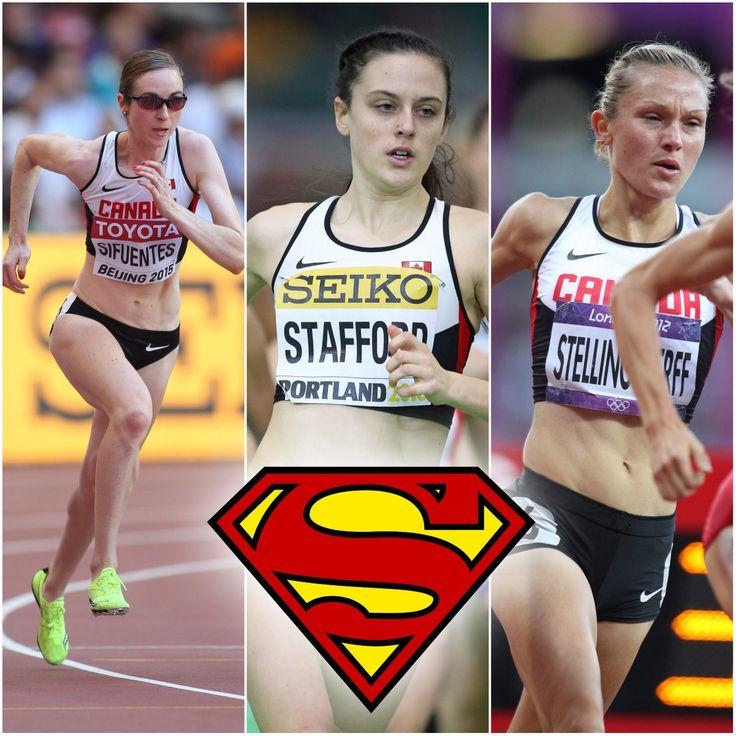 Athletics Canada @AthleticsCanada  Aug 11 Sifuentes / Stafford / Stellingwerff. Tomorrow our SuperWomen tackle the 1500m at #Rio2016 .  Nicole Sifuentes, Gabriela Stafford and Hilary Stellingwerff