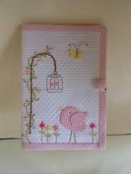Resultado de imagem para trabalho com tecidos em capa de cadernos e cadernetas de vacinacao