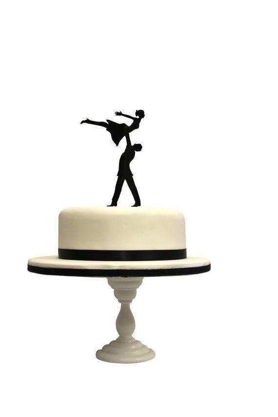 Will your first dance be inspired by Dirty Dancing? This silhouette cake topper is perfect for all movie and dance lovers. Push the topper into the