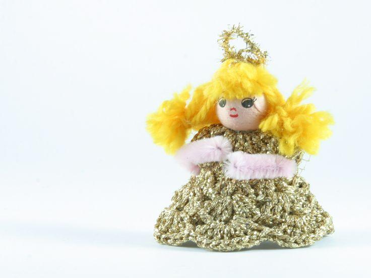 angelo oro  di Un Cesto di Gomitoli su DaWanda.com