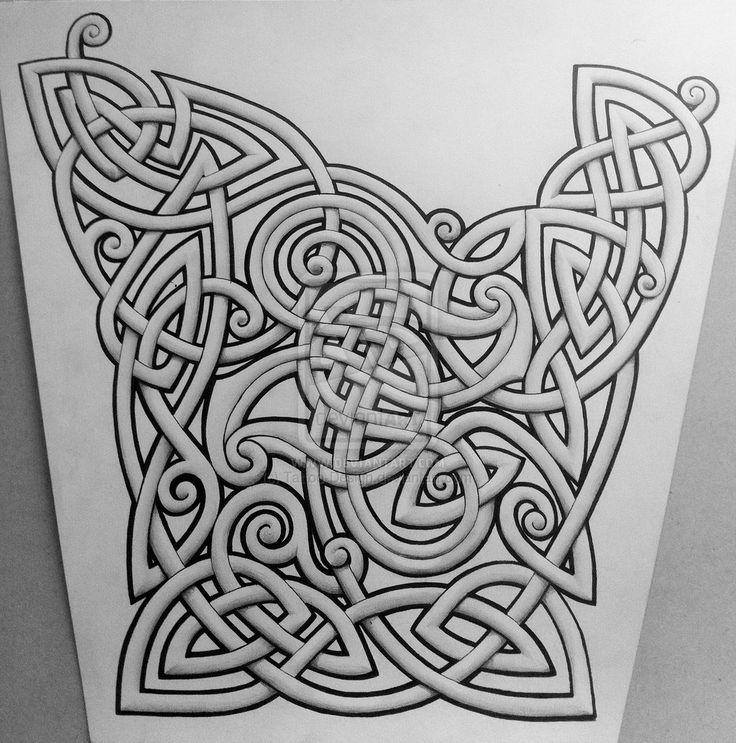 Curley Celtic Sleeve by Tattoo-Design.deviantart.com on @deviantART