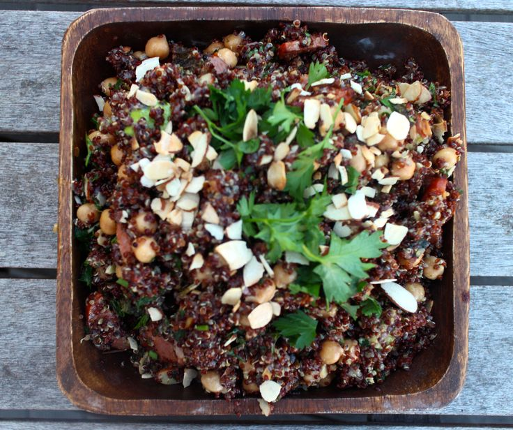 Nourishing quinoa salad, packed with goodness x See more at www.thecowandbee.com